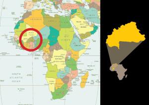 Localizzazione del Burkina Faso sulla carrta geografica