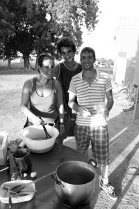 Trois volontaires